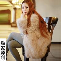 Long design fox fur outerwear new arrival 2013 berber fleece long-sleeve fur overcoat fashion Women
