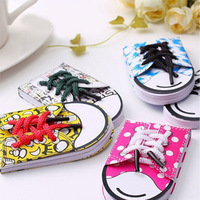 10PCS/LOT Shoe shape Memo Pad Korean version NOTEPAD lace sticky notes  N times NOTEBOOK convenience paper colored 2507