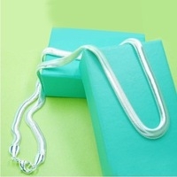 N367 Christmas gift,best price,2013 925 sterling silver Fashion 6mm snake chains necklace,Wholesale Jewelry necklace