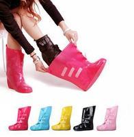 free shipping Thickening bearcat rain boots rainboots female fashion slip-resistant rain shoe covers rainboots set water shoes