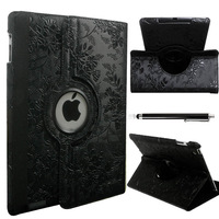 Black Luxury Magnetic Smart Cover Case For ipad 2 ipad 3 ipad 4 Protector,Free Shipping!
