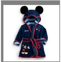 2013 Winter Autumn Children's Pajamas robe kids Micky minnie mouse Bathrobes Baby homewear Boys girls Cartoon Home wear