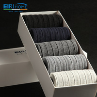 Men's cotton socks autumn and winter thick socks 5pairs/box