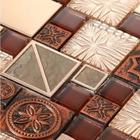 New glass steel kitchen backsplash tiles bedroom fireplace marble stone tiles remolding bath wall mosaics modern pattern tiles