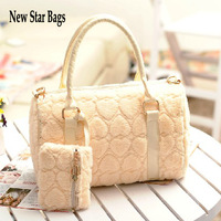 New Star Bags 2013 hot selling winter women shoulder totes bags Boston messenger bag good quality fur handbags TF28A