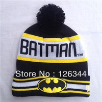 Free Shipping BATMAN TM Beanies Hats Snow Caps Keep Warm Winter Wool Knit Beanies Men and Women Bat ManHats
