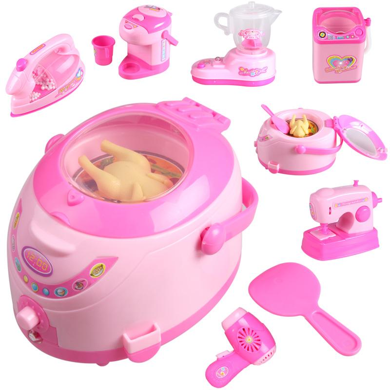 Mini Toy brinquedos da menina criança aparelhos brinquedo máquina de lavar geladeira elétrica(China (Mainland))