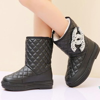 2013 winter female child snow boots fashion boots waterproof female child boots medium-leg boots child boots