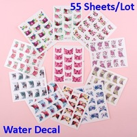55 Sheets x Nail Decal Wraps Rose French Tip Water Transfer Stickers Free Shipping