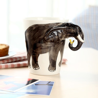 Pure homee 3d three-dimensional ceramic animal mug cup coffee cup