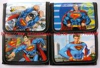 Superman Cartoon children cartoon wallet purse Free shipping 24 pcs