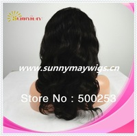 "Top Quality 100%Malaysian Virgin Human Hair Natural Wave 10""-28"" Full Lace Wigs"