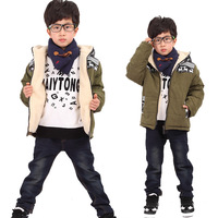 Child wadded jacket male child cotton-padded jacket child thickening outerwear cotton-padded jacket 2013 autumn and winter