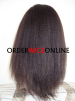 100% HUMAN HAIR KINKY STRAIGHT FULL LACE WIGS WITH BABY HAIR IN STOCK 18NCH COLOR 4#  FAST FREE SHIPPING