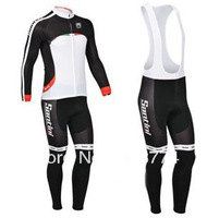 2013 New Design Winter Fleece/Thermal San Sport Jersey(Maillot)+Bib Pant(Culot)/Bicycle Wear/ Bikling Clothing/Some Sizes