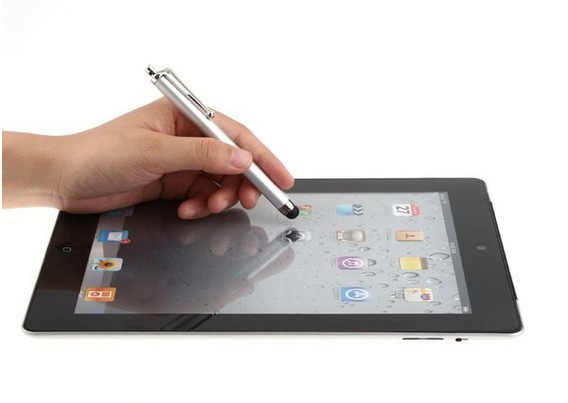 7500pcs Stylus Touch Screen Metal Pen for Apple IPhone 3G 3GS 4S 4 4G Ipad 2 New Cellphone Pad Tablet PC free dhl shipping(China (Mainland))