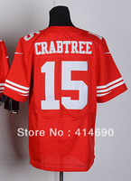 Free Shipping Wholesale&Retail Men's Elite American Football Jersey #15 Michael Crabtree Jersey,Embroidery Logos,Can Mix Order