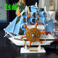 Wooden sailing boat ship model fashion home decoration tomtit decoration