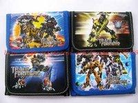 Optimus Prime Ironhide  Megatron Cartoon children cartoon wallet purse Free shipping 24 pcs