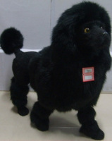 Home crafts gift dog pet dog black poodle artificial animal model