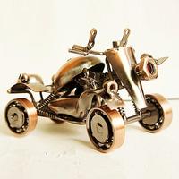 Vintage motorcycle model iron four wheel atv boys birthday gift