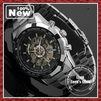 WINNER New Luxury Watch Men Luminous Hands Skeleton Auto Mechanical Watches Wristwatch DHL UPS Free Ship 10pcs/lot Bulk
