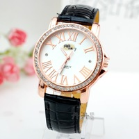 new 2013 casual leather strap quartz  watch watches jelly wristwatch dress clock gift luxury brand items women men 64758