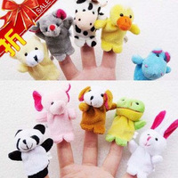(30Pcs/lot) Children baby's Cartoon Animal Finger Puppet,Finger Doll Toy,kids Dolls Toys,Animal Doll Xmas gift  Free Shipping