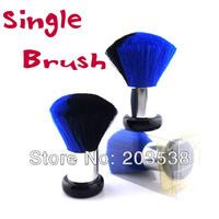 2-Color Single Brush Powder Foundation Brush Face Makeup Tool Single Makeup Brush Black+Blue Color