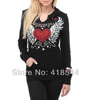 Free Shipping 2013 new SF brand sport hoodies for women,fashion wholesale SF cotton hoody slim casual brand women coat hotsell