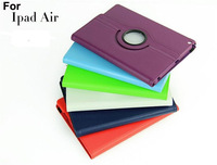20pcs 2013 New 360 Rotating Leather Case For Apple iPad Air Case,Folio Stand Portector Skin For iPad 5 Cover Wallet Flip Case