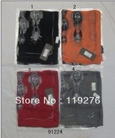 hot selling wholesale 20pcs 2013 newest Sexy wingSkull silk scarves-lady scarves scarf with tags,women's tophat skulls scarves