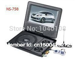 High Quality 7 8 inch Portable DVD Player TV FM Radio MP3 MULTI SD card
