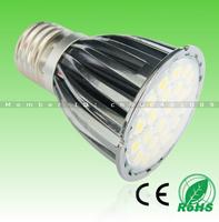 12pcs free shipping! Hot Sell Aluminum+Glass 5W MR16(DC12V),E14/E27/GU10(AC85-265V),smd5050 24leds 480lm WW/CW led spotlight