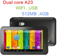 "Promotion !! Free Shipping ... 50pcs/lot 7"" Dual Core A20 Tablet PC With HDMI ,USB ,Allwinner Android Tablet"