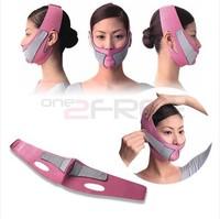 V- Face Line Slim Up Belt Strap Anti Wrinkle Slimming Cheek Womens Massage Mask  New Free Shipping Pink