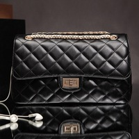 2013 female plaid chain women's bag genuine leather handbag messenger bag handbag small bags
