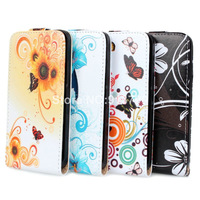 CS10 For P6 Flower Floral lovely prints Flap Flip Hard Leather case Cover wallet for HUAWEI Ascend P6