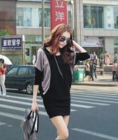 2013 autunmn spring women batwing sleeve slim hip knitted long-sleeve dress ladies slim korean sexy dresses