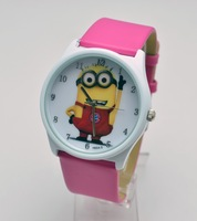 NEW arrive Free Shipping! Wholesale! Cute 1set Despicable Me Watches wristwatches  lovely watch Wristwatches, leather watch