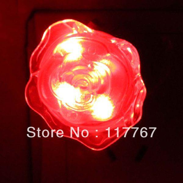 Wholesale Fancy Rose Flower Switchable LED Mini Lamp Decor Lights Free Shipping 630012(China (Mainland))