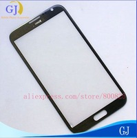 Front Screen Outer glass for note 2, Top Glass Replacement For Samsung 7100 ,gray white and black,free shipping