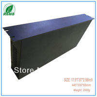 Custom aluminum enclosures large wall mount enclosures outdoor junction box  17.52*7.87*2.56inch(445*200*65mm)