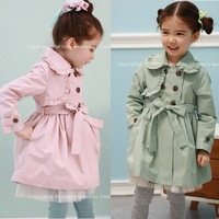autumn winter baby girl's fashion children outerwear coat kids jackets & coats trench coat lace jacket