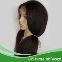 "Queen Hair Products Malaysian Glueless Full Lace Wigs 2# Darkest Brown Kinky Straight 8"" to 24""120% Density DHL Free Shipping"