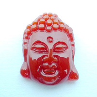 Natural crystal red agate manichaeist pendant red agate buddha head pendant male Women pendant