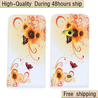 New Flowers Butterfly Pattern Flip Vertical Leather Case for Nokia Lumia 625 Free Shipping UPS DHL HKPAM CPAM DW-2