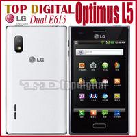 3pcs/lot Original LG Optimus L5 Dual E615 Dual-SIM  Android 4.0.3 WIFI GPS Smartphone One year warranty