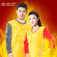 Full-body in42patients gold plus velvet thickening thermal underwear female male the elderly thermal set