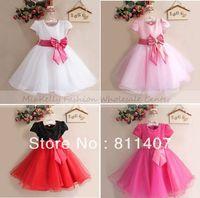 retails 2013 Baby Girl Wedding Party Dresses,Girl Gorgeous Princess Dress,Baby girls christmas tutu lace big Bow dress 0-2year